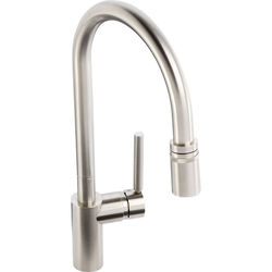 Abode Ratio Single Lever Pull Out Kitchen Tap (Brushed Nickel).