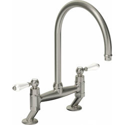 Abode Ludlow Bridge Kitchen Tap (Brushed Nickel).