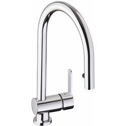 Abode Czar Single Lever Pull Out Kitchen Tap (Chrome).