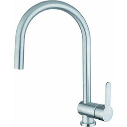 Abode Czar Single Lever Kitchen Tap (Chrome).