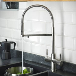 Abode Pronteau 3 In 1 Professional Boiling Water Kitchen Tap (Br Nickel).