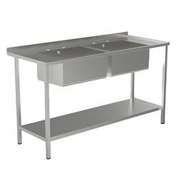 Acorn Thorn Catering Sink With 2 Bowls & Legs 1500mm (Stainless Steel).