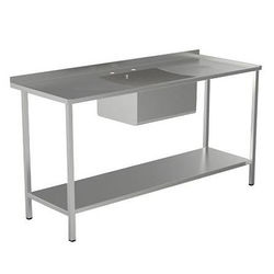 Acorn Thorn Catering Sink With Double Drainer & Legs 1800mm (S Steel).
