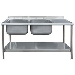 Acorn Thorn Catering Double Sink With RH Drainer & Legs 1500mm (S Steel).