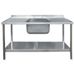 Acorn Thorn Catering Sink With Double Drainer & Legs 1500mm (S Steel).