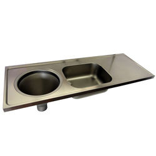 Acorn Thorn Hospital Sluice Sink With Sink & Plain Top (LH, S Steel).