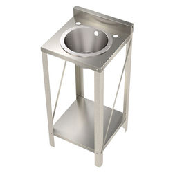 Acorn Thorn Freestanding Wash Basin With Round Bowl (Stainless Steel).