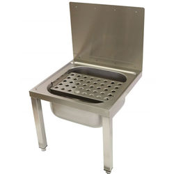 Acorn Thorn Wall Bucket Sink With Legs & Grating 500mm (Stainless Steel).
