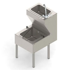 Acorn Thorn Combined Janitorial Sink With Legs  449mm (Stainless Steel).