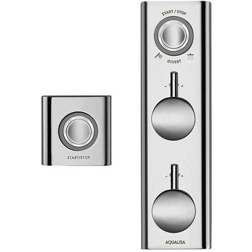 Aqualisa HiQu Digital Dual Shower / Bath Valve With Remote Control (HP, Combi).