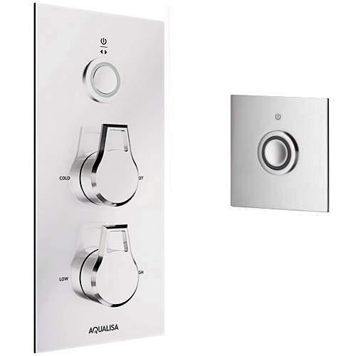Aqualisa Infinia Digital Shower & Remote (Chrome Astratta Handles, HP).