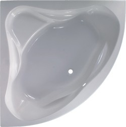 Aquaestil Ambassador Corner Bath With Built In Seat.  1400x1400mm.