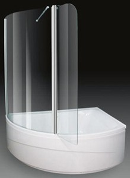 Aquaestil Comet Corner Shower Bath With Screen Right Hand 1500x1000mm