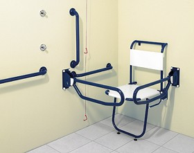 Arley Doc M Changing Room Pack With Blue Grab Rails.