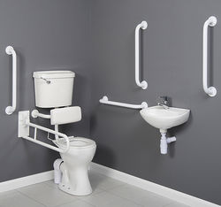 Arley Doc M Doc M Low Level Toilet Pack With Lever Flush & White Rails.