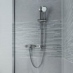 Bristan Acute Exposed Thermostatic Shower Valve With Slide Rail Kit (Chrome).