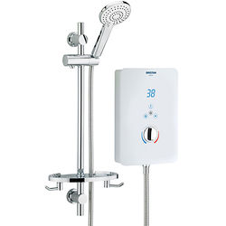 Bristan Bliss Electric Shower With Digital Display 9.5kW (Gloss White).