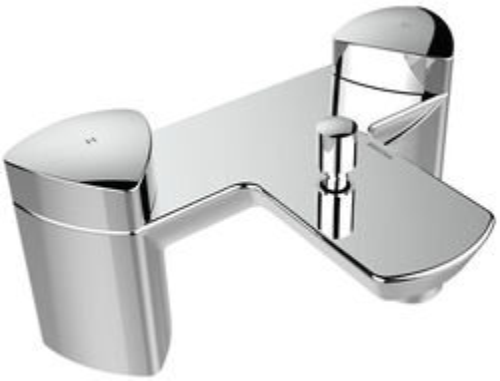 Bristan Bright Bath Shower Mixer Tap With Shower Kit (Chrome).
