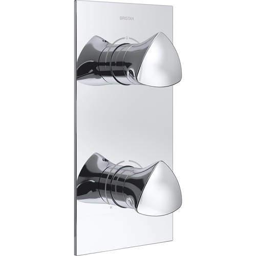 Bristan Bright Concealed Shower Valve (2 Outlets, Chrome).