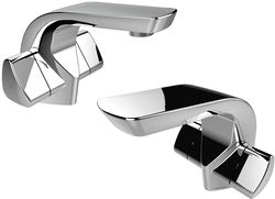 Bristan Bright Mono Basin & 1 Hole Bath Filler Taps Pack (Chrome).