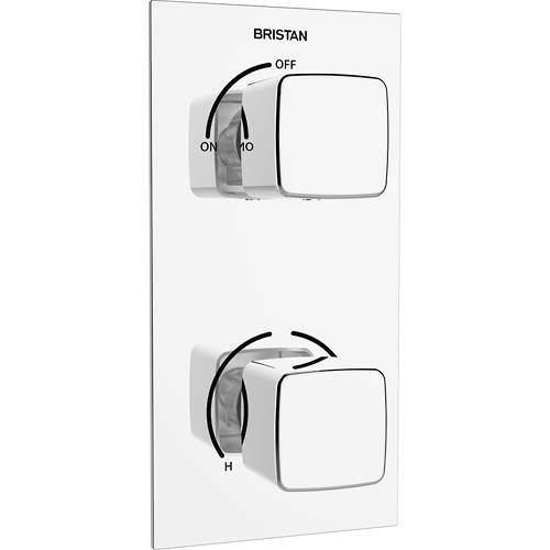 Bristan Cobalt Concealed Shower Valve (2 Outlets, Chrome).