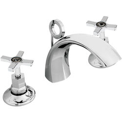 Bristan Art Deco 3 Hole Basin Mixer Tap With Pop Up Waste (Chrome).