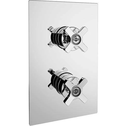 Bristan Art Deco Concealed Shower Valve (2 Outlets, Chrome).