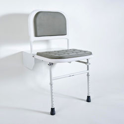 Bristan Commercial DocM Folding Shower Seat With Legs (White).