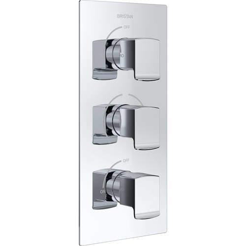 Bristan Descent Concealed Shower Valve (2 Outlets, Chrome).