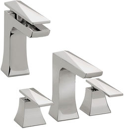 Bristan Ebony Mono Basin & 3 Hole Bath Filler Tap Pack (Chrome).