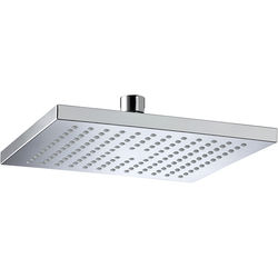 Bristan Accessories Square Fixed Shower Head (200x200mm, ABS).