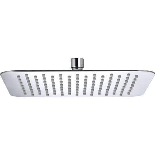 Bristan Accessories Square Fixed Shower Head (250x250mm, S Steel).