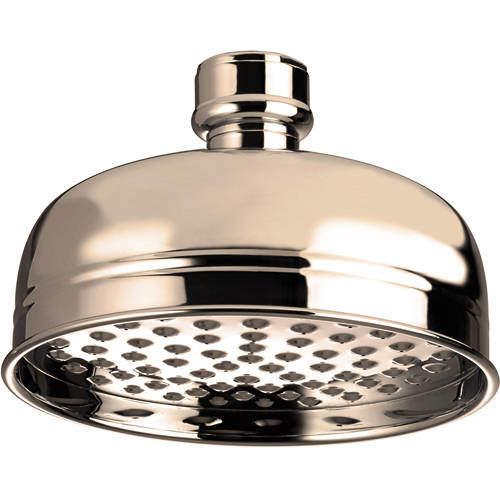 Bristan Accessories Traditional Round Shower Head (145mm, Gold).