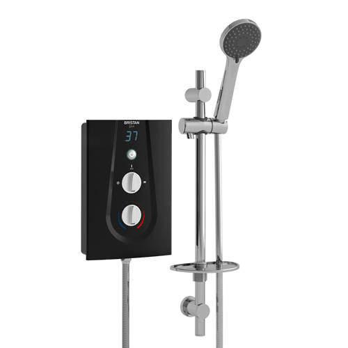 Bristan Glee Electric Shower With Digital Display 9.5kW (Black).