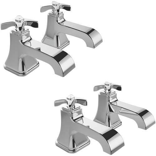 Bristan Glorious Basin & Bath Taps Pack (Chrome).
