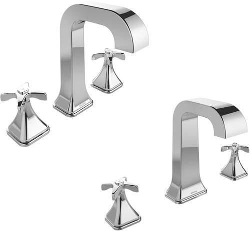 Bristan Glorious 3 Hole Basin & Bath Filler Tap Pack (Chrome).