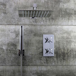 Bristan Glorious Shower Pack With Arm, Square Head & Handset (Chrome).