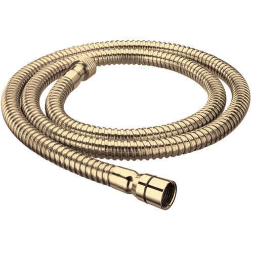 Bristan Accessories Cone To Nut Shower Hose (1.5m, 8mm, Gold).