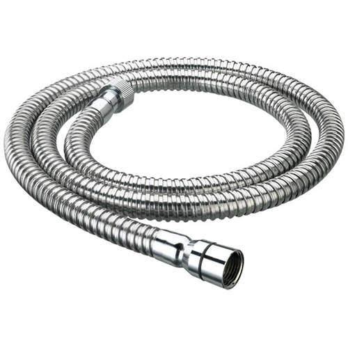 Bristan Accessories Cone To Nut Shower Hose (1.75m, 8mm, Chrome).