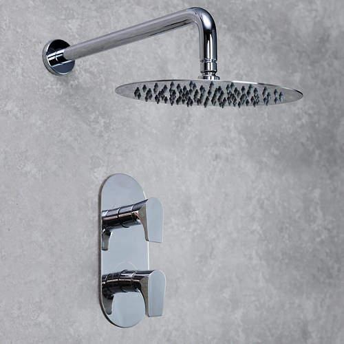 Bristan Hourglass Concealed Shower Valve & Round Head (Chrome).