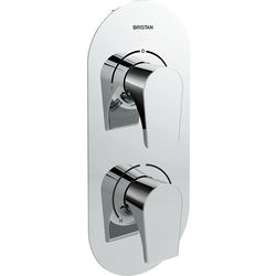 Bristan Hourglass Concealed Shower Valve (2 Outlets, Chrome).