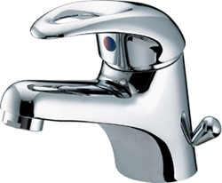 Bristan Java Mono Basin Mixer Tap With Side Action Pop Up Waste (Chrome).