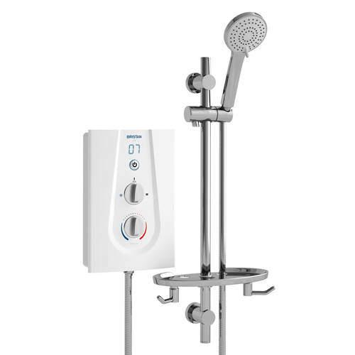 Bristan Joy Thermostatic Electric Shower With Digital Display 8.5kW (White).