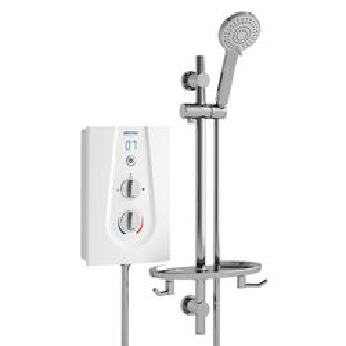 Bristan Joy Thermostatic Electric Shower With Digital Display 9.5kW (White).