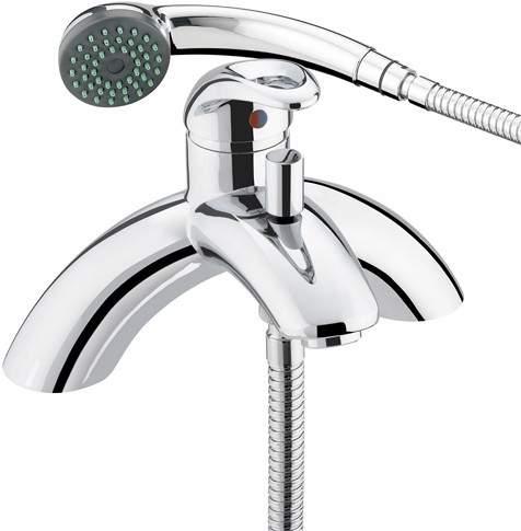 Bristan Java Single Lever Bath Shower Mixer Tap With Shower Kit (Chrome).