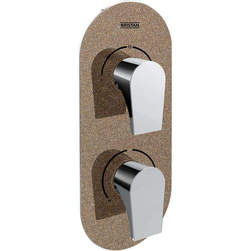 Bristan Hourglass Concealed Shower Valve (2 Outlets, Copper Radiance).