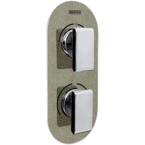 Bristan Pivot Concealed Shower Valve (2 Outlets, Champagne Shimmer).