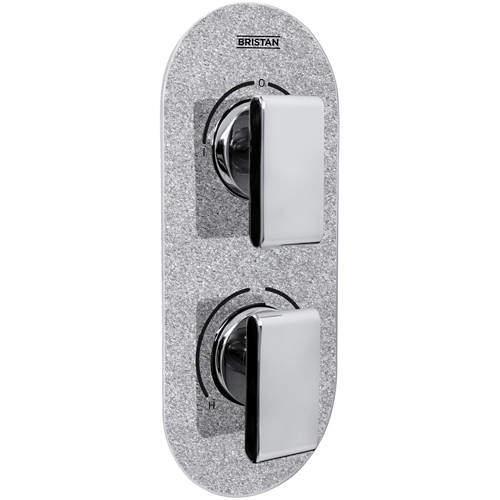 Bristan Pivot Concealed Shower Valve (2 Outlets, Silver Sparkle).