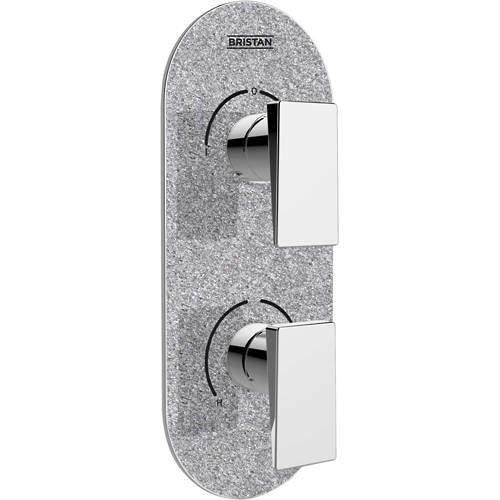 Bristan Sail Concealed Shower Valve (2 Outlets, Silver Shimmer).