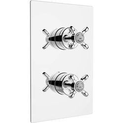 Bristan 1901 Concealed Shower Valve With Dual Controls (2 Outlet, Chrome).